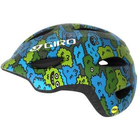 Giro Scamp MIPS Kypärä Lapset, blue/green creature camo